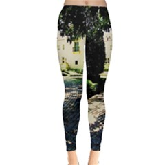 Hot Day In Dallas 1 Leggings  by bestdesignintheworld