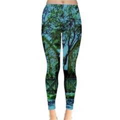 Hot Day In Dallas 8 Leggings  by bestdesignintheworld