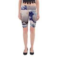 Image Woodblock Printing Woodcut Yoga Cropped Leggings by Sudhe