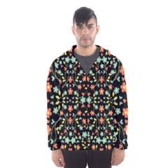 Flowers-2 Men s Hooded Windbreaker by ArtworkByPatrick