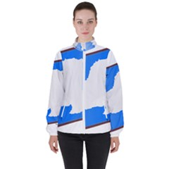 Waving Proposed Flag Of Antarctica Women s High Neck Windbreaker by abbeyz71