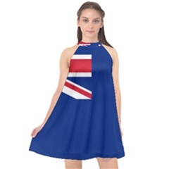 Government Ensign Of The British Antarctic Territory Halter Neckline Chiffon Dress  by abbeyz71