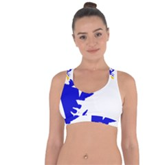 Magallanes Region Flag Map Of Chilean Antarctic Territory Cross String Back Sports Bra by abbeyz71