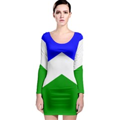 Flag Of Seward Long Sleeve Bodycon Dress by abbeyz71