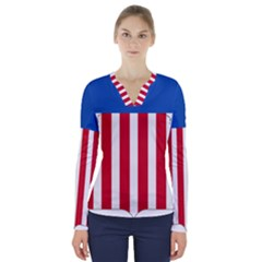 Lesser Coat Of Arms Of The United States V Neck Long Sleeve Top