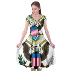 Great Seal Of The United States   Obverse  Cap Sleeve Wrap Front Dress