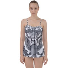 Black & White Great Seal Of The United States - Obverse  Babydoll Tankini Set by abbeyz71