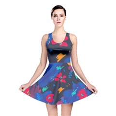 Patterns Rosebuds Reversible Skater Dress