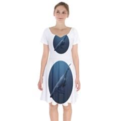 Whales Family Short Sleeve Bardot Dress