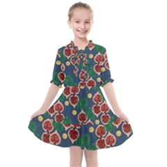 Figs And Monstera  Kids  All Frills Chiffon Dress by VeataAtticus