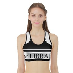 Logo Of Library Of Congress Sports Bra With Border by abbeyz71
