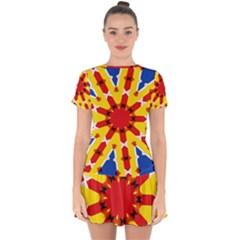 Design 567 Drop Hem Mini Chiffon Dress