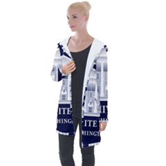 Logo Of The White House  Longline Hooded Cardigan by abbeyz71