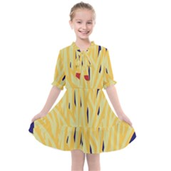French Fries Potato Snacks Food Kids  All Frills Chiffon Dress by Simbadda
