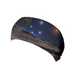 Lunar Landscape Star Brown Dwarf Yoga Headband by Simbadda