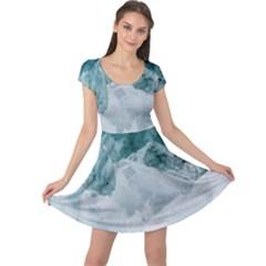Blue Sea Cap Sleeve Dress by goljakoff