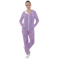 Lavender Elegance Women s Tracksuit by retrotoomoderndesigns