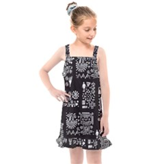 Vector Pattern Design With Tribal Elements Kids  Overall Dress by Vaneshart