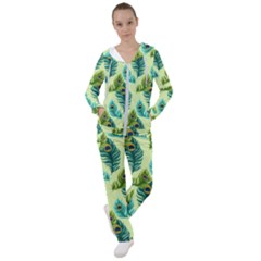 Peacock Feather Pattern Women s Tracksuit by Vaneshart