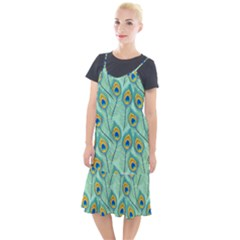 Lovely Peacock Feather Pattern With Flat Design Camis Fishtail Dress by Vaneshart