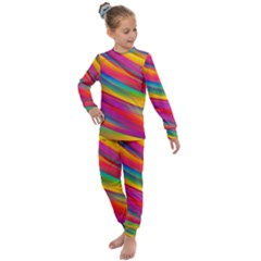 Rainbow Dreams Kids  Long Sleeve Set  by retrotoomoderndesigns