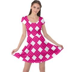 Backgrounds Pink Cap Sleeve Dress