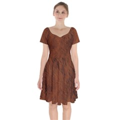 Fur Skin Bear Short Sleeve Bardot Dress by HermanTelo