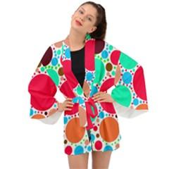 Dots Long Sleeve Kimono by impacteesstreetweareight