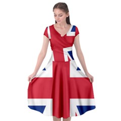 Uk Flag Union Jack Cap Sleeve Wrap Front Dress by FlagGallery