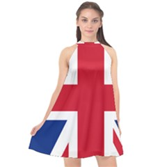 Uk Flag Union Jack Halter Neckline Chiffon Dress  by FlagGallery