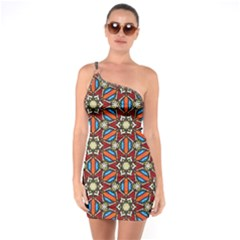 Pattern Stained Glass Church One Soulder Bodycon Dress by Simbadda