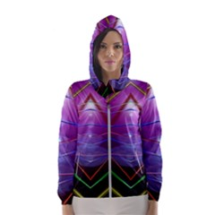 Disco Laser Rays Dance Women s Hooded Windbreaker