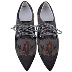 The Crows With Cross Women s Pointed Oxford Shoes by FantasyWorld7