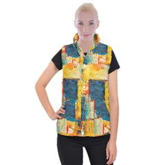 Abstract Painting Acrylic Paint Art Artistic Background Women s Button Up Vest