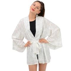 Circle Vector Background Abstract Long Sleeve Kimono by Bajindul