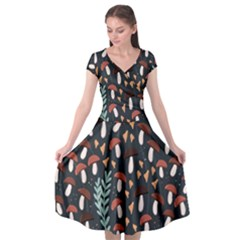Summer 2019 50 Cap Sleeve Wrap Front Dress by HelgaScand