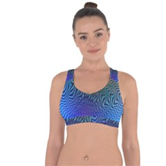 Abstract Circles Lines Colorful Cross String Back Sports Bra
