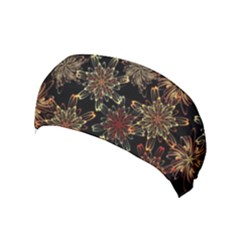 Patterns Abstract Flowers Yoga Headband