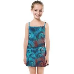 Abstract Patterns Spiral Kids  Summer Sun Dress