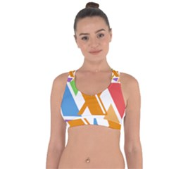 Xcoin Logo 200x200 Cross String Back Sports Bra by Ipsum