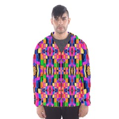 Abstract 16 Men s Hooded Windbreaker