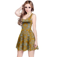 A Star In Golden Juwels Reversible Sleeveless Dress by pepitasart