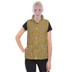 A Star In Golden Juwels Women s Button Up Vest by pepitasart