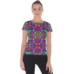 Abstract 21 1 Short Sleeve Sports Top  by ArtworkByPatrick