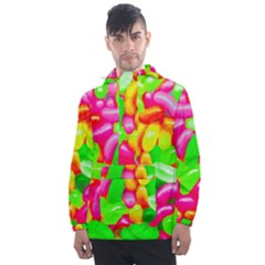 Vibrant Jelly Bean Candy Men s Front Pocket Pullover Windbreaker by essentialimage