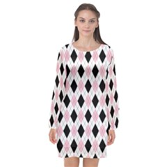 Argyle 316837 960 720 Long Sleeve Chiffon Shift Dress  by vintage2030