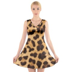Leopard Skin 1078848 960 720 V Neck Sleeveless Dress by vintage2030