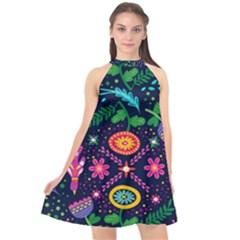 Pattern 3177414 960 720 Halter Neckline Chiffon Dress  by vintage2030
