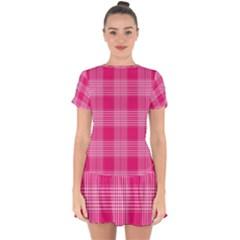 Checks 316856 960 720 Drop Hem Mini Chiffon Dress by vintage2030