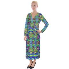 Abstract 39 1 Velvet Maxi Wrap Dress by ArtworkByPatrick